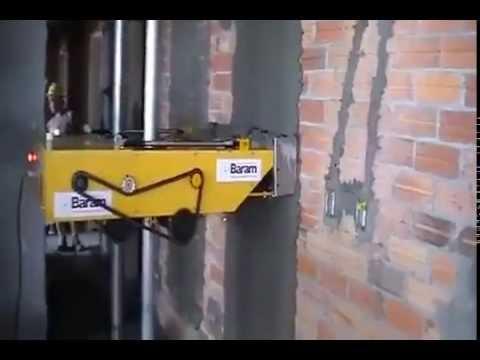 maquina para aplanar pared