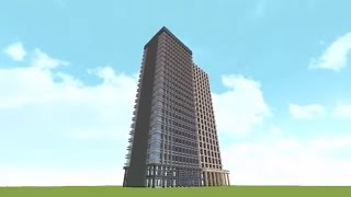 【Minecraft】初心者でも分かる!短時間高層ビル建築講座~デザイン編~ゆっくり解説