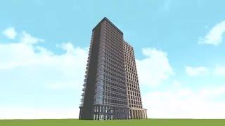 getlinkyoutube.com-【Minecraft】初心者でも分かる!短時間高層ビル建築講座~デザイン編~ゆっくり解説