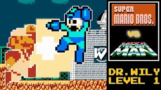 Super Mario Bros. Fusion [Mega Man 2 - Dr. Wily Level 1]
