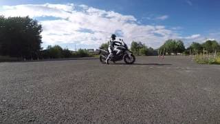 getlinkyoutube.com-Practising ride on Honda NC750x with Leo Vince Exhaust