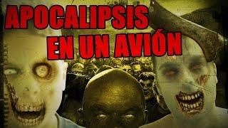 getlinkyoutube.com-APOCALIPSIS EN UN AVIÓN | juego con el mini youman - Zombies on a Plane