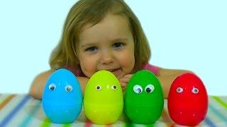 getlinkyoutube.com-Животные фермы заводные пластиковые яйца сюрприз игрушки animals toys plastic surprise eggs