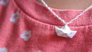 getlinkyoutube.com-DIY: Polymer Clay Newspaper Boat Necklace