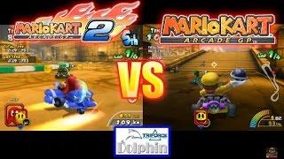 Mario Kart Arcade GP Vs Mario Kart Arcade GP 2 (Dolphin Triforce)