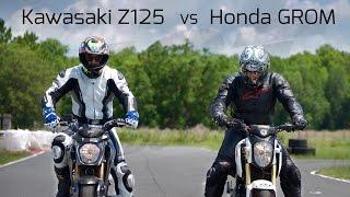 getlinkyoutube.com-Honda Grom VS Kawasaki Z125: Track Battle