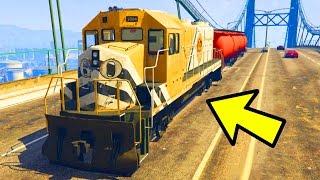 SPAWN IN TRAINS ON ROADS IN GTA 5 ONLINE! (GTA 5 GLITCHES & TRICKS)