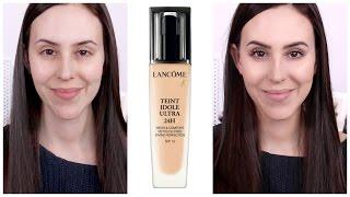 getlinkyoutube.com-Lancome Teint Idole Ultra 24h Foundation | Dry Skin | 10h First Impression