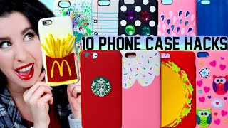 getlinkyoutube.com-10 DIY Phone Case Life Hacks! | Clever Ways To Spice Up Your Plain iPhone Case!