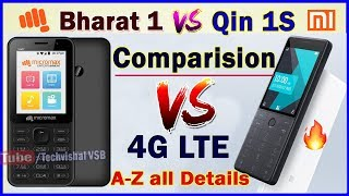 Comparison Micromax Bharat 1 VS Xiaomi Qin 1S Feature Phone All Details | in Hindi width=