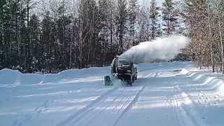 getlinkyoutube.com-Mitsubishi minicab Mini truck snow blower