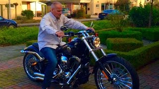 getlinkyoutube.com-Harley Davidson FXSB Softail Breakout Bassani Extrem Sound