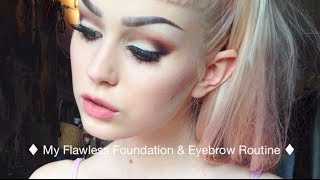 getlinkyoutube.com-Flawless Pale Foundation & Eyebrow Routine ı Evelina Hellman