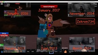 getlinkyoutube.com-Roblox, Zombie Tower timelapse 2017, going Back in Time to 2013, 2014, 2016