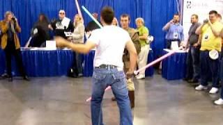 Star Wars Ray Park Darth Maul Lightsaber Duel (Part 1 of 3)