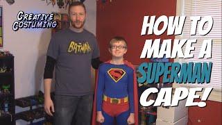 getlinkyoutube.com-How to Make a Superman Cape and Shield!