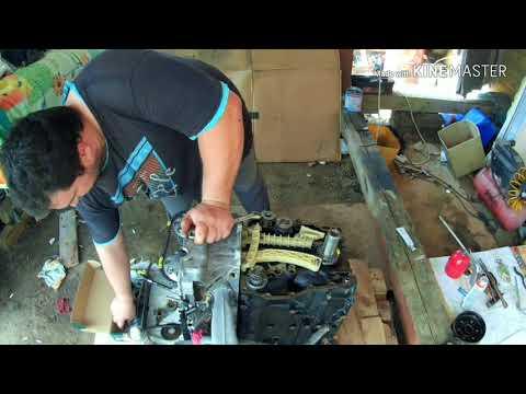 Сааб 9.3 Установка комплекта привода балансировочных валов и ГРМ на двигатель. Часть 4