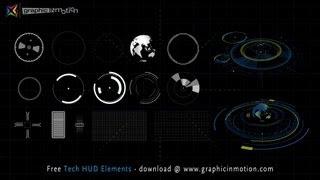getlinkyoutube.com-FREE High Tech HUD Elements Model Kit - After Effects Project