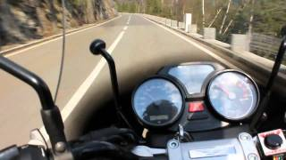 getlinkyoutube.com-Moto Guzzi Breva 750 with Mistral silencer, onboard camera