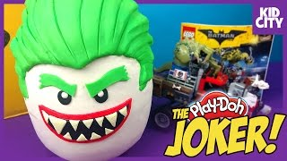 The Lego Batman Movie JOKER Play-Doh Surprise Egg with Blind Bag MiniFigures by KIDCITY