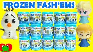 getlinkyoutube.com-Frozen Fashems Disney 2015 Huevos Sorpresa de Plastilina Olaf Fash'em