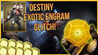 getlinkyoutube.com-Destiny: Exotic Engram Glitch! BEST Exotic Engram Farm!