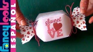 getlinkyoutube.com-Caja en forma de caramelo hecha a mano (Descarga diseño)
