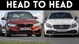 getlinkyoutube.com-Sports Car Fight! |'17 Mercedes C63 AMG S Coupe vs '17 BMW M3 Competition Package