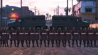 getlinkyoutube.com-GTA 5 - LSPDFR Playing As A Cop Episode #89: SWAT Patrol 22: GROVE STREET RIOT (Riot Shields)
