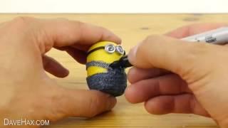 getlinkyoutube.com-Bagai Mana Cara Membuat Minion Dengan Telur Plastik