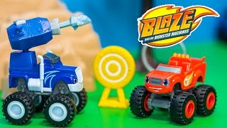 BLAZE AND THE MONSTER MACHINES Nickelodeon Blaze Crusher's Cannon a Blaze Video Toys Unboxing