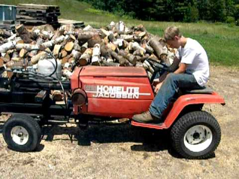 jacobsen homelite homemade woodsplitter