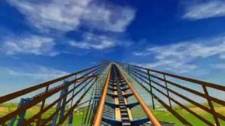 getlinkyoutube.com-Goliath - Six Flags: Magic Mountain ~ A RCT3 Recreation