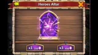 Castle Clash: Rolling 45000 gems for Vlad and Santa!