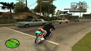 getlinkyoutube.com-GTA San Andreas ลองยกล้อ เวฟ 125 เล่นๆ
