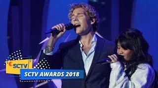 PERTAMA KALI! Christopher feat Hanin Dhiya Menyanyikan Lagu Heartbeat   SCTV Awards 2018