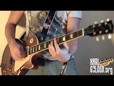 One Last Thrill - Instrumental Cover - SLASH - GUITAR/BASS/DRUMS - (Karl Golden)