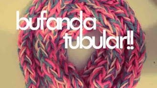 getlinkyoutube.com-DIY♥ BUFANDA TUBULAR CON LOS DEDOS / TUBULAR SCARF WITH FINGERS