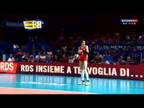 CHINA X REP.DOMINICANA - Mundial de Vôlei Feminino 2014 - 3ª FASE