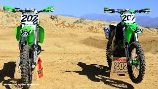 getlinkyoutube.com-Sean Collier's KX500 versus KX450 with Motocross Action Magazine