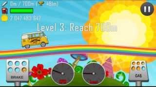 getlinkyoutube.com-Hill Climb Racing 1.17.0 New vehicle:Hippie Van,New level:Rainbow