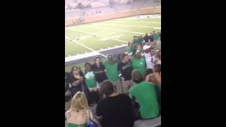 UNT Green Brigade plays You'll Never Walk Alone After Win A