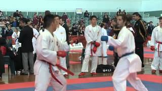 getlinkyoutube.com-Australian Karate Federation Kumite-full bout