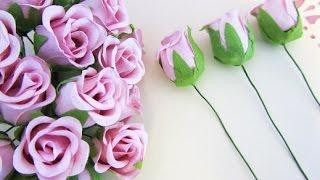getlinkyoutube.com-How to make beautiful paper flowers ❤ Rose bouquet for special days
