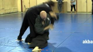 Advanced kata guruma against collar tie - Ninjutsu technique for Akban wiki