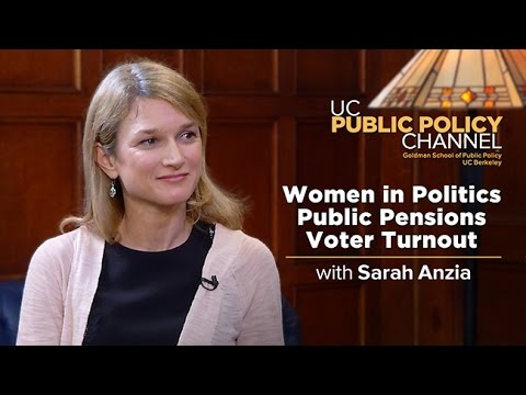 Women in Politics, Public Pensions and Voter Turnout with Sarah Anzia