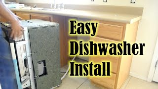 getlinkyoutube.com-Dishwasher How To Install A Dishwasher in less than 1 hour! How To Replace A Dishwasher