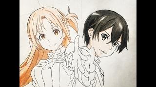 getlinkyoutube.com-How to draw Kirito and Asuna (Sword Art Online) Ordinal Scale