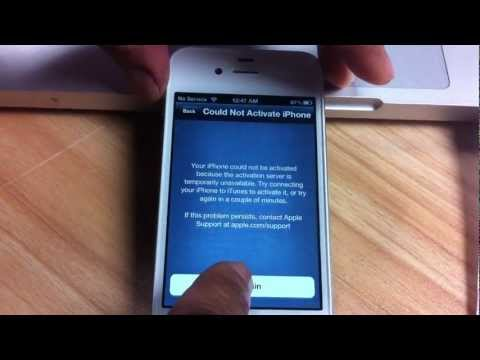 How to Activate and unlock your iPhone 4S iOS 5.1, 5.0.1, 5.0 using X-SIM sim card