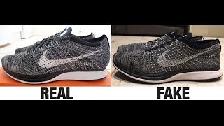 getlinkyoutube.com-How To Spot Fake Nike Flyknit Racer Trainers Authentic vs Replica Comparison